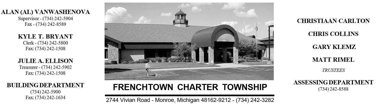 Frenchtown Charter Township Letterhead